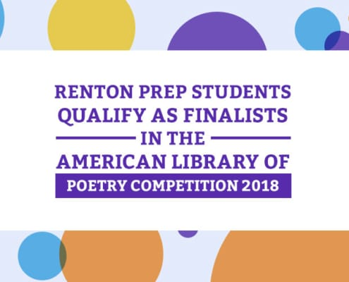 Renton Prep Students Qualify as Finalists in the American Library of Poetry Competition 2018