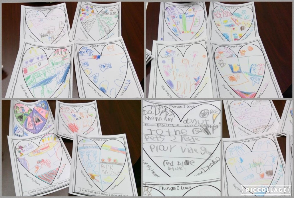 Renton Prep Kindergarten Students Heart Map